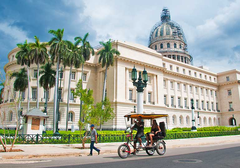 Cuba's national Capitol building.